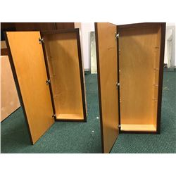 2 Tall Bathroom Medicine Cabinets (One Has Mirrored Panel) 16.5 x 7 x 42 H