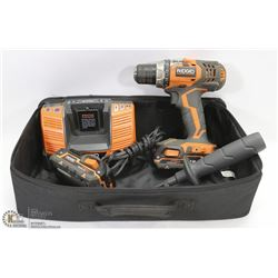 RIDGID 18V DRILL DRIVER SET W/ BATTERY CHARGER