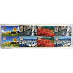 GROUP OF EIGHT 500 PC PUZZLES