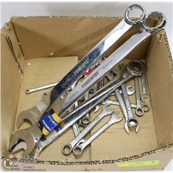 20-25 MIXED WRENCHES W/ 3 NEW LARGE COMBINATION