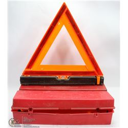 PAIR OF ROAD SAFETY HAZARD TRIANGLES