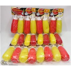 BUNDLE OF MUSTARD AND KETCHUP DISPENSERS