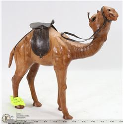 LEATHER CAMEL FIGURINE