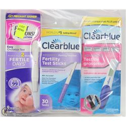 BAG OF OVULATION TEST AND PREGNANCY TEST