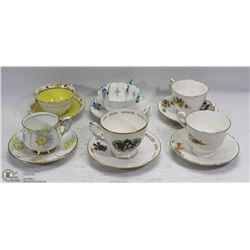 STATE FLAT ENGLISH TEA CUP AND SAUCERS