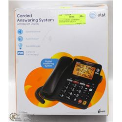 AT & T CORDED ANSWERING SYSTEM WITH BACKLIT