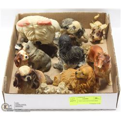 FLAT OF VINTAGE DOGS FIGURES LOVERS