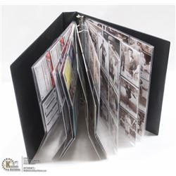 BINDER OF BOSTON RED SOX CARDS INCL BABE RUTH