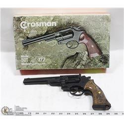 CROSMAN MODEL 38T 6 SHOT .177 CALIBER AIR PISTOL.