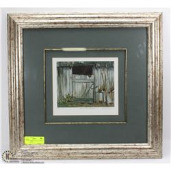 PICTURE FRAME OF OLD ICE HOUSE BY A.J. CARSON
