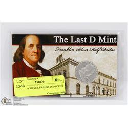 1963 USA SILVER FRANKLIN 50 CENT COIN.