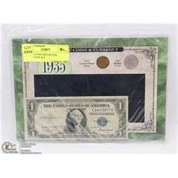 1935 USA COIN AND SILVER CERTIFICATE SET.