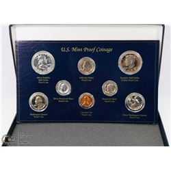 SET OF 8 US MINT PROOF COINS INCL 1962 SILVER 50