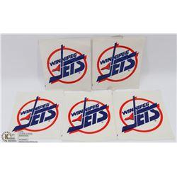 LOT OF 6 NHL WINNIPEG JETS #2 WINDOW DECALS