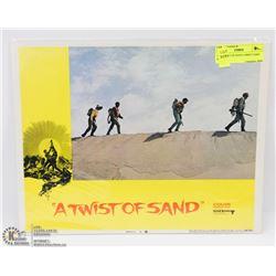 1968 TWIST OF SAND LOBBY CARD #6 68/294