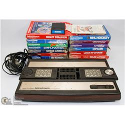 INTELLIVISION GAME CONSOLE WITH 16 GAMES