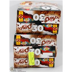 5 BOXES OF 30 AERO MINI BARS
