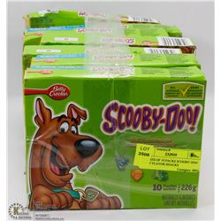 8 BOXES OF 10 PACKS SCOOBY DOO FRUIT FLAVOR SNACKS