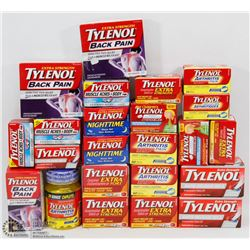 LARGE BAG OF ASSORTED TYLENOL