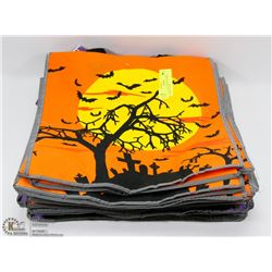 LOT OF HALLOWEEN THEMED SHOPPING BAGS.