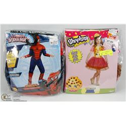 CHILDS COSTUMES INCL SMALL SHOPKINS & SMALL
