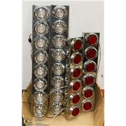 LOT OF 4 COMMERCIAL USE LIGHTS, RED AND WHITE