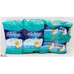 4 PACKS OF ALWAYS ULTRA THIN PADS