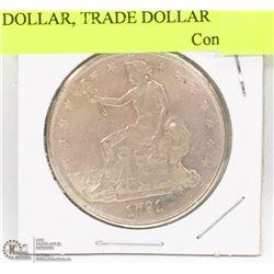 1791 UNITED STATES SILVER DOLLAR, TRADE DOLLAR