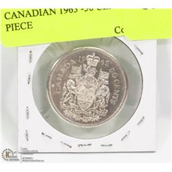 CANADIAN 1963 -50 CENT SILVER PIECE