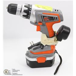 TERRATEK 18V CORDLESS DRILL WITH CHARGER &