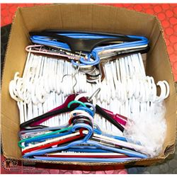 LARGE BOX OF HANGERS - HOUSEHOLD
