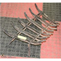 "LOT OF 2 FIREPLACE/STOVE GRATES 18"" WIDE HOME"
