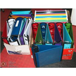 2 BOXES OF BINDERS & 1 BOX OF FILE FOLDERS