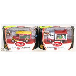 SET OF 2 NEW COCA COLA MATCHBOX COLLECTIBLES -