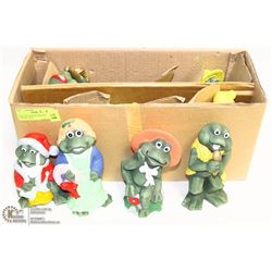 CASE OF 8 NEW DECORATIVE CERAMIC FROG