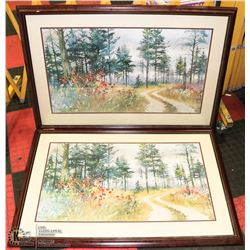 N. ENGLE AWS SET OF 2 FRAMED ART WORKS