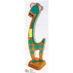 GIRL WOOD CUTOUT GIRAFFE