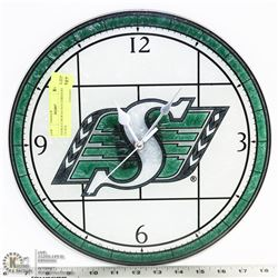 SASKATCHEWAN ROUGHRIDERS CLOCK