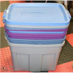 BUNDLE OF 4 RUBBERMAID ROUGHNECK