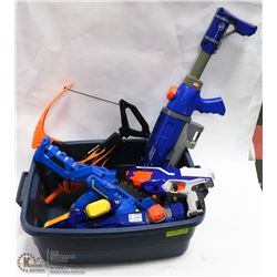 2 SUPER SOAKERS AND 4 NERF GUNS