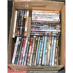 BOX OF DVD MOVIES.