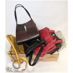 ESTATE FLAT OF PURSES INCL DESIGNER AND LEATHER