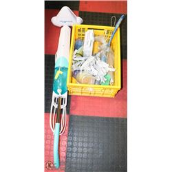 STEAMTEK MOP WITH FLAT OF CLEANING SUPPLIES