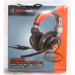 BLACKWEB OVER THE EAR STEREO GAMING HEADSET