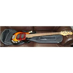 ERNIE BALL MUSIC MAN STING RAY 5 BASS GUITAR WITH