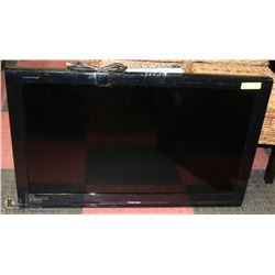 "TOSHIBA 40"" FLAT SCREEN TV WITH REMOTE-HAS SMALL"