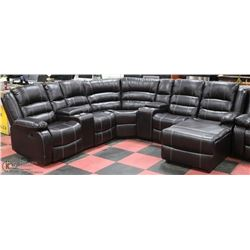 NEW BORDEAUX CONSOLE RECLINING SECTIONAL