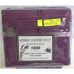 BAMBOO DOUBLE SIZE DARK PURPLE  COMFORT PLUS 1800