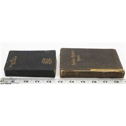 TWO ANTIQUE HYMN BOOKS  1889 & 1891