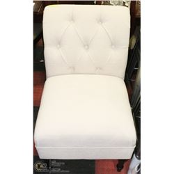 "OFF WHITE 23"" FABRIC ACCENT CHAIR"